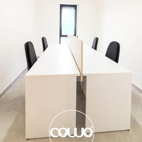Postazioni lavoro allo spazio Coworking Crotone
